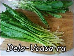 Салат из черемши: фото к шагу 1