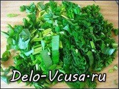 Салат из черемши: фото к шагу 3