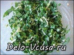Салат из черемши: фото к шагу 7