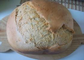 белый хлеб с укропом