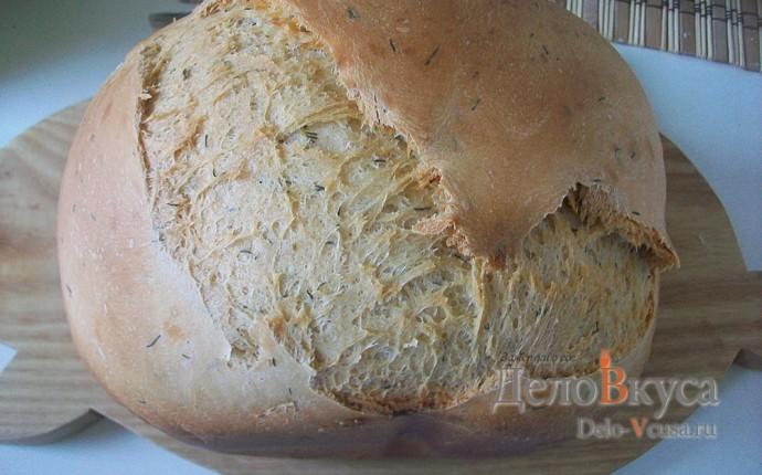 Белый хлеб с укропом в хлебопечке
