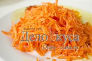 Суп рассольник: Морковку натереть на терке