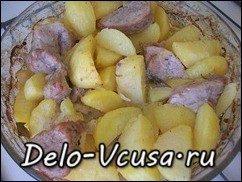Картошка запеченная в духовке со свиной вырезкой: фото к шагу 7