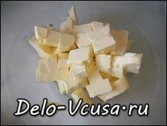 Масло нарезаем кубиками