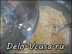 Открытый пирог с ревенем из песочного теста: фото к шагу 9