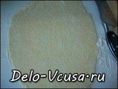 Открытый пирог с ревенем из песочного теста: фото к шагу 15.