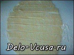 Открытый пирог с ревенем из песочного теста: фото к шагу 16