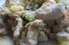 кабачки с куриным филе