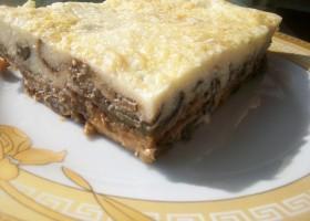 Запеканка из баклажан с сыром Пармезан и соусом Бешамель