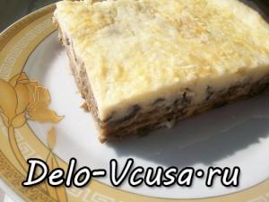 Запеканка из баклажан с сыром Пармезан и соусом Бешамель: фото к шагу 11.
