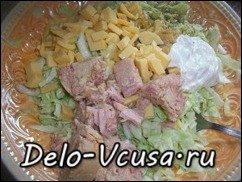 Салат из капусты, сыра и консервы тунца в собственном соку: фото к шагу 3.