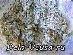 Рулетики из кабачков с плавленым сыром, чесноком и зеленью: фото к шагу 6.