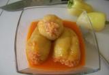 Перец фаршированный мясом. Фаршированные перцы с начинкой из мяса и риса