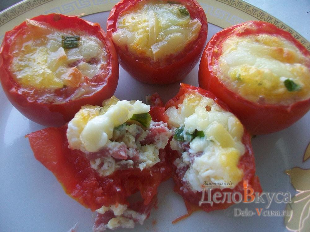 Яичница в томатах приготовленная в духовке