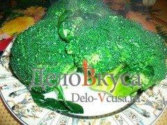 Гарнир из брокколи с оливковым маслом и винным уксусом: фото к шагу 3.
