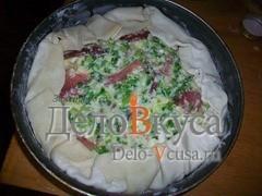 Пирог выпекаем при 190*-210* в течении 20-25 минут