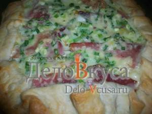 пирог с картошкой, сыром и пармской ветчиной