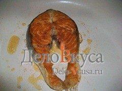 Стейк из семги на сковороде без масла: фото к шагу 3