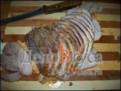 Снимаем с мяса нитки и даем полностью остыть и настояться