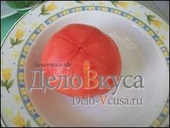Очистить томат от кожуры