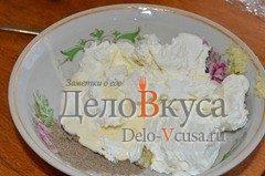 Канапе с закуской из творога: фото к шагу 1.