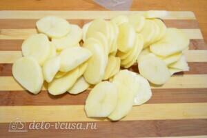 Слоеный пирог с картофелем, болгарским перцем и Пармской ветчиной: фото к шагу 1.