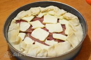 Слоеный пирог с картофелем, болгарским перцем и Пармской ветчиной: фото к шагу 13.