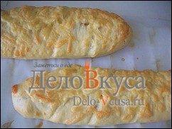 Багет в хлебопечке с сыром: фото к шагу 18.
