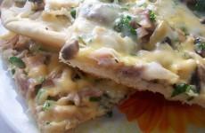 пицца с сыром и курицей