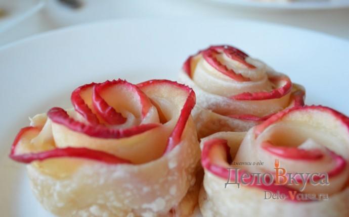Розы из слоеного теста с яблоками рецепт пошаговый 29