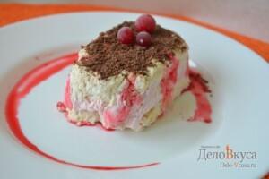 Холодный десерт Семифредо с клубникой: фото к шагу 13.