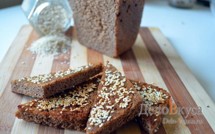 Гренки из черного хлеба с кунжутом
