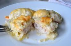 Рыба под соусом бешамель с сыром