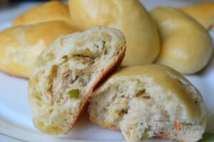 Пирожки с мясом и картошкой в духовке: фото к шагу 34.