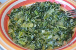 Сливочный шпинат. Как приготовить шпинат: фото к шагу 13.