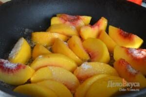 Карамелизированные персики. Начинка из персиков: фото к шагу 4.