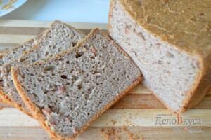 Ржаной хлеб в хлебопечке с вяленым мясом или с беконом: фото к шагу 11.