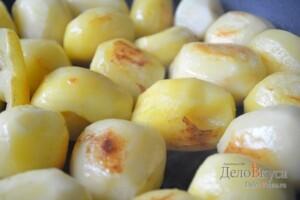 Жаркое по-домашнему с мясом и грибами: фото к шагу 11.