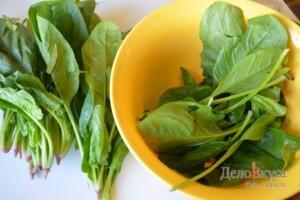 Сливочный шпинат. Как приготовить шпинат: фото к шагу 1.