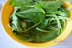 Сливочный шпинат. Как приготовить шпинат: фото к шагу 2.