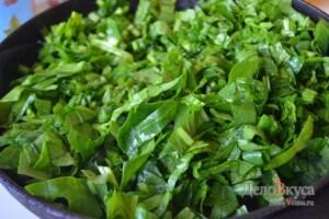 Сливочный шпинат. Как приготовить шпинат: фото к шагу 8.