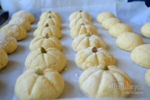 Миндальное печенье. Миндально-апельсиновое песочное печенье. Печенье тыква (на Хэллоуин): фото к шагу 17.