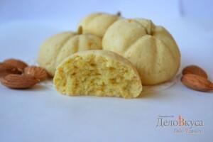 Миндальное печенье. Миндально-апельсиновое песочное печенье. Печенье тыква (на Хэллоуин): фото к шагу 18.