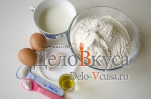 Дрожжевое сдобное тесто для пиццы: Ингредиенты