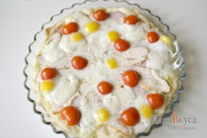 Пицца Цезарь: фото к шагу 6.