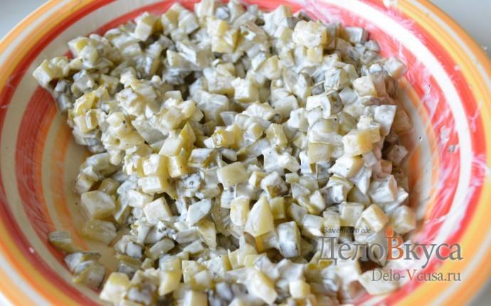 Салат из соленых огурцов к драникам