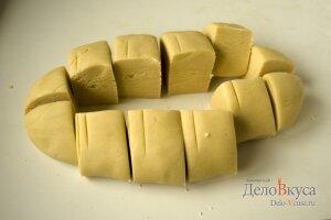 Торт медовый: Разделить тесто