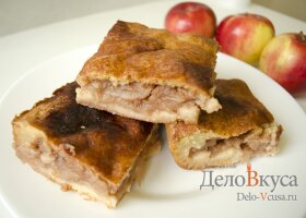 Яблочный пирог. Пирог с яблоками и творогом