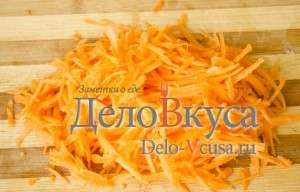 Печеночный паштет: Натереть морковку
