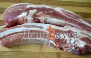 Свиные ребрышки в фольге: фото к шагу 1.